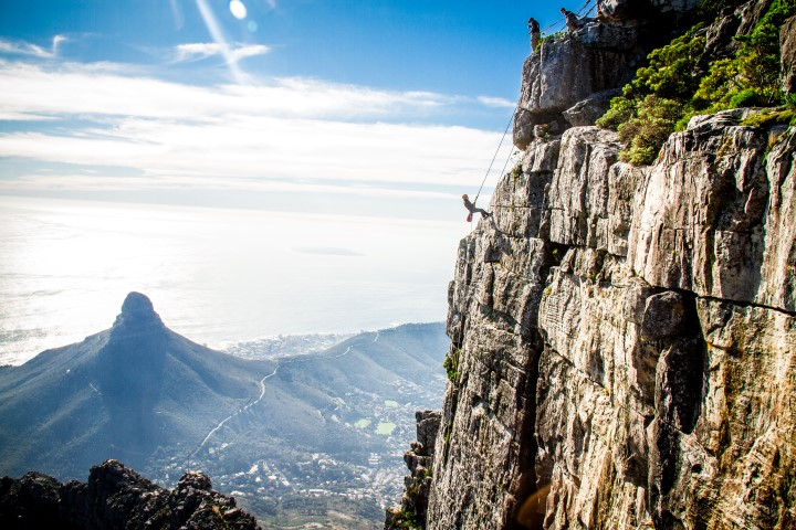 Adrenaline activity - abseil off Table Mountain