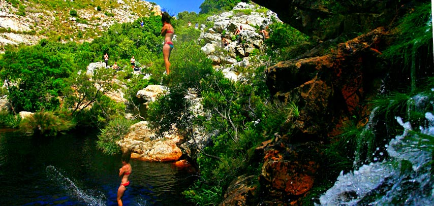 Adrenaline adventure Cape Town - Kloofing